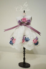 Blythe Pullip Doll Outfit White Roses Princess Dress
