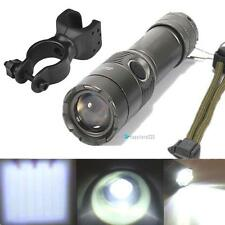 10000LM CREE XM-L T6 LED Rechargeable Flashlight Torch Light + Bike Mount Clip