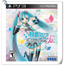 PS3 Hatsune Miku Project Diva F2 English or Japanese SONY PlayStation Music Sega