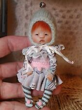 *~OOAK, One Of A Kind Miniature Elfin Girl *Fiona* By Shell*************ONE DAY!