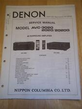 Denon Service Manual~AVC-3020/2020/2020G AV Amplifier~Operation~Original~Repair
