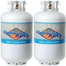 Twin Pack 30 Lb. Vertical Cylinder Refillable Propane Steel LPG tank- NEW