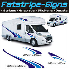 MOTORHOME VINYL GRAPHICS STICKERS DECALS SET CAMPER VAN RV CARAVAN HORSEBOX