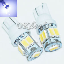 Bombillo T10 4.5W 450lm 9-SMD LED Blanco Luz Coche Lámpara Light 12 V / 2 PCS