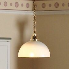 "1/12TH DOLLS HOUSE ""RISE & FALL "" DOMED MODERN CEILING LIGHT"