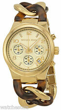 Michael Kors MK4222 Chain Link Gold Dial Gold Tone Chronograph Women's Watch