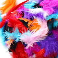 50 X FLUFFY MARABOU FEATHERS CARD MAKING EMBELLISHMENTS IN CHOICE OF COLOUR