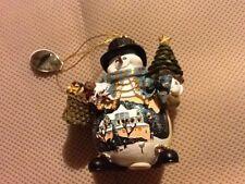 Ashton Drake Galleries Christmas Snowman Ornament Basket of Toys NEW