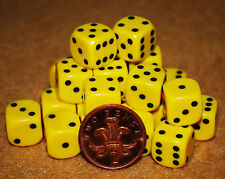 20 Opaque Six Sided Dice 14mm D6 RPG family boardgames
