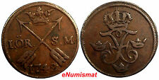 Sweden Frederick I Copper 1749 1 Ore, S.M. Choice Details Km# 416.1