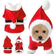14'' Chest Red Winter Dog Christmas Clothes Puppy Costumes Hoodie for Xmas Gift