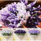 New Lavender Bouquet Handmade Silk Flower Home Wedding Tea Bar Floral Decor Hot#