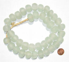 African Recycled Glass Beads - 18mm (Clear) Ghana