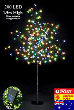 200 LED 1.5M Multi-Coloured Cherry Blossom Solar Christmas Outdoor Tree
