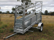 Plans Portable Cattle Yards and Mobile Adjustable Cattle Loading Ramp on Trailer
