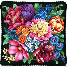 "Dimensions Needlepoint kit 14"" x 14"" Pillow ~ FLORAL SPLENDOR #72-120011 Sale"