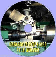 7X10 MINI LATHE MACHINE OPERATING SKILLS TUTORIAL EASY TO FOLLOW VIDEO DVD NEW