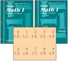 Saxon Math - Grade 1 Student Workbooks & Fact Cards