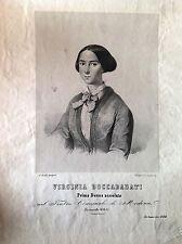 MODENA. VIRGINIA BOCCABADATI.litografia XIX secolo soprano.