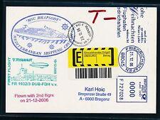 59144) Ryanair FF Dublin - Friedrichshafen 21.12.2006 Zeppelin NT SP Tax Label