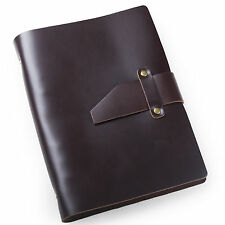 Ancicraft Simple Classic Refillable Leather Journal Notebook With Strap A5 Lined