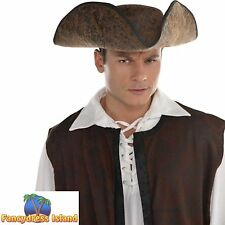 PIRATE BUCCANEER SWASHBUCKLE JACK HAT - mens fancy dress costume accessory