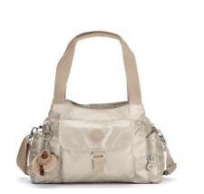 NWT- Kipling Felix (Fairfax) Large Metallic Handbag - Golden Rod Item# HB6124
