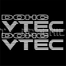 "Civic Accord  DOHC VTEC  DECAL STICKER VEHICLE GRAPHIC 1 SET OF 2, 11"" x 3"""