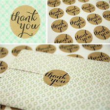 "120x ""Thank You"" Packaging Seals Kraft Self Adhesive Sticker Label Paper Craft"