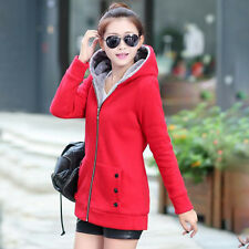 Women Thicken Fleece Hooded Winter Slim Trench coat Ladies Trench Jacket Outwear