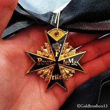 Pour Le Merite New Black 24k Gold Plated WW1 German Medal Highest  Honor - Copy!