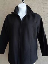 New Just My Size Cotton Blend Fleece Lined Zip Front Mock Neck Jacket 3X Black