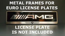 Metal Frame Steel Holder For European License Plate Stainless Mercedes Benz v.3