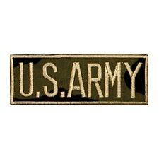 ID 0164 Name Tag US Army Embroidered Iron On Applique Patch