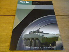 PATRIA ARMOURED MODULAR VEHICLE MILITARY TRUCK LORRY BROCHURE jm