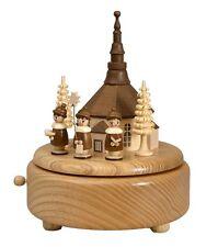 Musikdose natur Seiffener Kirche Kurrende 16,5 cm Spieluhr NEU Spieldose Seiffen