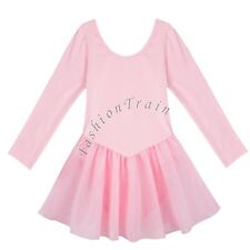 Girl Kid Gymnastic Ballet Leotard Skirt Tutu Dress Dance Outfit Costume SZ 2-12Y