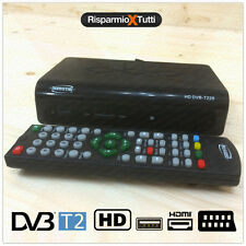 DECODER HD DVB-T2 RICEVITORE DIGITALE TERRESTRE TV SCART HDMI MPEG2 MPEG4 TV