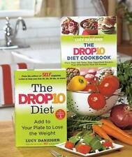 The Drop 10 Diet & The Drop 10 Diet Cookbook Lucy Danziger Lot of 2 Books NEW