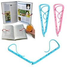 Adjustable Hands Free Travel Reading Holiday Book Holder Holds Pages Open Clip