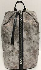 NEW Aimee Kestenberg Tamitha Studded Distress Gunmetal Leather Backpack Handbag