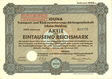 IDUNA Transport- u. Rückversicherungs-AG 1000 RM 1931 Berlin