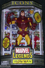"""Toy Biz Marvel Legends ICONS IRON MAN YELLOW & RED VERSION 12"""" Action Figure NEW"""