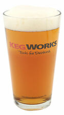 KegWorks Tools For Drinking Pint Glass - 16 oz - Home Bar & Pub Beer Glassware