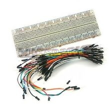 MB102 Solderless PCB Breadboard 830 Point + 65pcs Male to Male Jump Wire