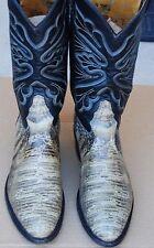 Tony Lama Rare Natural Lizard Color Black Label Western Cowboy Boot  11 D