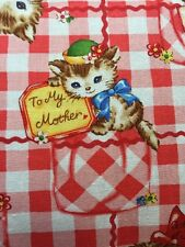 RPE293 Retro Kittens Kitschy Kitty Cute Love Notes Cotton Fabric Quilt Fabric