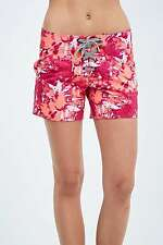 Volcom Graffiti Lace-Up Beach Shorts - Pink - Large - RRP £35 - New
