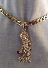 14kt Gold Filled  St. Lazarus Pendant & Cuban Link  24 in. Chain