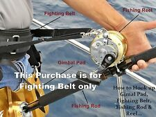 Jaws Ultimate Fighting Belt reel Harness for Big game Jigging Rod size XL